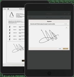Ahorra tiempo y tareas administrativas mediante la App Firmar Documentos que permite firmar todos los documentos directamente en la pantalla del dispositivo móvil, con validez legal, y agiliza los procesos internos protegiendo los contenidos confidenciales