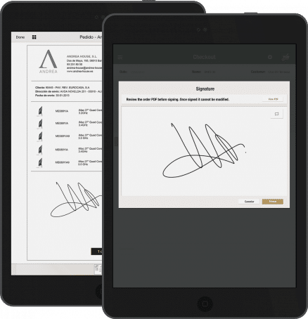 Saves time and administrative tasks through the Sign Documents App which allows to sign all documents directly on the screen of the mobile device, with legal validity, and speed up internal processes by protecting sensitive content